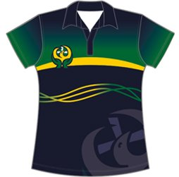 Image of Ladies Basketball Polo from Captivations Sportswear, USA