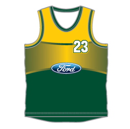 Double banded round neck basketball jersey designed by Captivations Sportswear