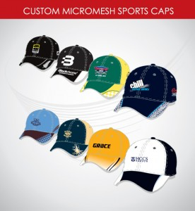 Image of extra comfort sports caps custom designed in team colors with team logos