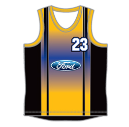image for mens round neck basketball jersey designed by Captivations Sportswear