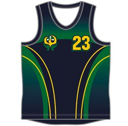 Image of front view of Men's Round Neck Basketball Jersey custom designed for teams