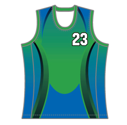 Image for round neck basketball singlet with side panels custom designed by Captivations Sportswear