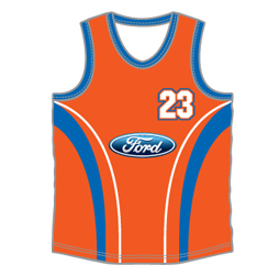 image for sports singlet custom designed by Captivations Sportswear to suit your basketball team