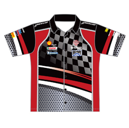 Pro pit crew racing shirt sublimated racing apparel for Racing t shirts custom
