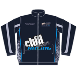 Race Team Jacket front view Captivations Sportswear