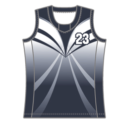 Image for college neck basketball singlet with side panels custom designed by Captivations Sportswear