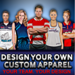 Image of types of custom sports apparel and custom clothing designed for clubs, schools, businesses and organisations