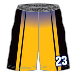 Pro basketball shorts custom designed by Captivations Sportswear