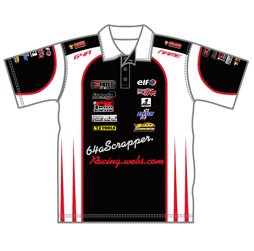 image of race team polo shirt front view motorsport custom apparel from captivations sportswear - Racing T Shirt Design Ideas