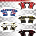 Image of some new motorsports shirt designs from Captivations Sportswear