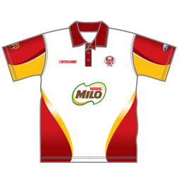 Image for sublimated cricket jersey front view, custom team jerseys designs by Captivations Sportswear