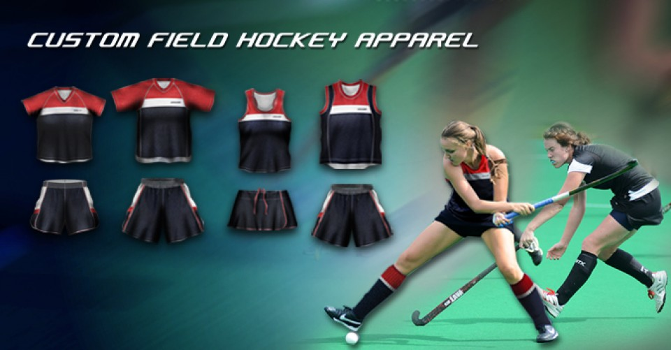 Image of custom field hockey apparel