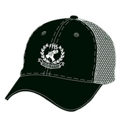 Image of custom baseball hat front view, custom team headwear from Captivations Sportswear
