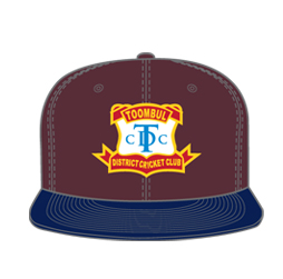 Image of custom flat brim hats front view, custom sports apparel from Captivations Sportswear