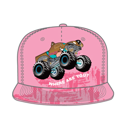 Image of custom snapback hat front view, custom headwear from Captivations Sportswear