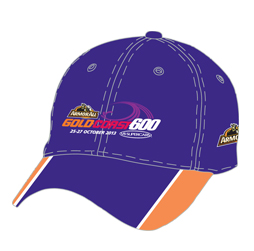 Image of custom baseball cap front view, custom sports apparel from Captivations Sportswear