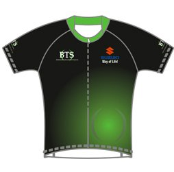 Image of men's cycle jersey front view, custom cycling and triathlon apparel from Captivations Sportswear