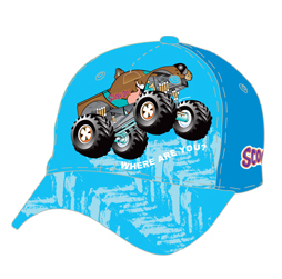 Image of sublimated ball cap front view, custom team sports apparel from Captivations Sportswear
