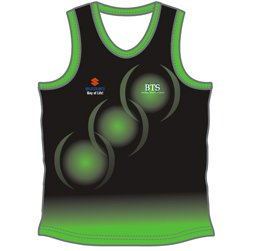 Image of triathlon running singlet front view, custom triathlon apparel from Captivation Sportswear