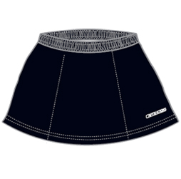 Image of field hockey skirt front view, custom field hockey apparel from Captivations Sportswear