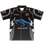 Custom car club shirt with club and sponsors logos, 100s of designs, logos and sponsor logs added free