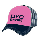 Image of pink custom foam trucker hat from Captivations Sportswear