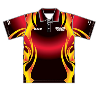 Race team polo shirts design your own sublimated team for Racing t shirts custom