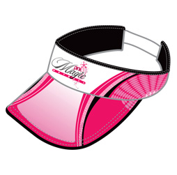 Image of visor that can be customized to your team, club, school or organization